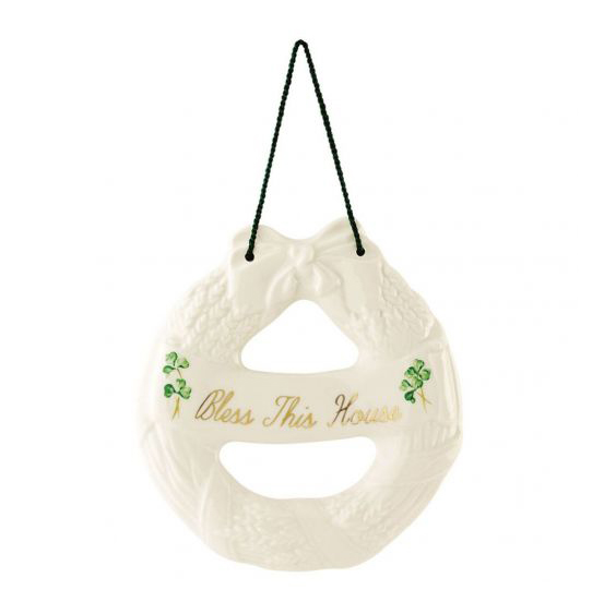 Belleek Classic House Blessing Wreath B2292 ExclusivelyIrish.com
