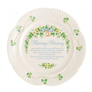Belleek Marriage Blessing Plate ExclusivelyIrish.com