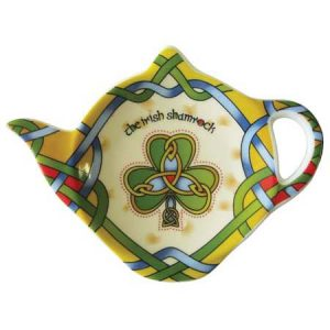 Royal Tara Irish Shamrock Tea Bag Holder-Irish Weave CL-73-18 ExclusivelyIrish.com