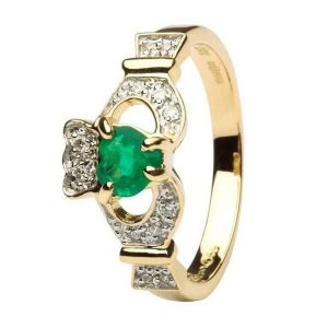 Emerald Claddagh Rings