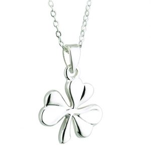 Solvar RHODIUM PLATED SHAMROCK PENDANT S45239 ExclusivelyIrish.com