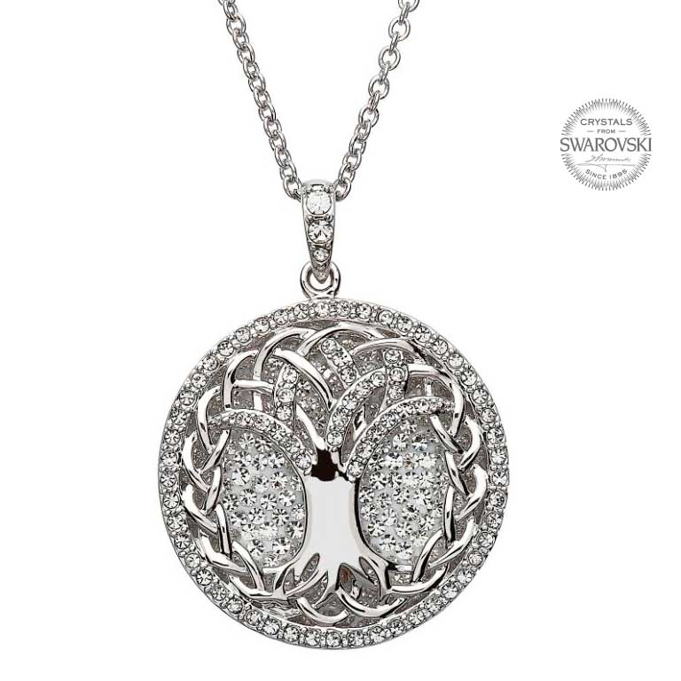 Tree Of Life Necklace Embellished With Swarovski Crystals