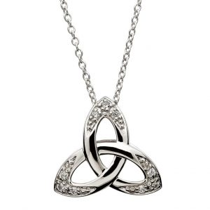Shanore Sterling Silver Cubic Zirconia Trinity Pendant SP2108CZ ExclusivelyIrish.com