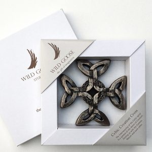 Wild Goose Studio Export Ltd. Celtic Creation Bronzed Wall Cross 96BBZ ExclusivelyIrish.com