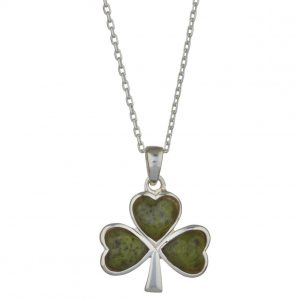 Solvar Sterling Silver Shamrock Necklace S4332 ExclusivelyIrish.com