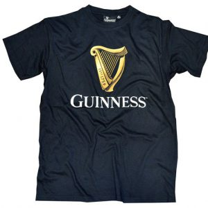 Traditional Craft Limited Black Guinness Harp T-Shirt GH1259 ExclusivelyIrish.com