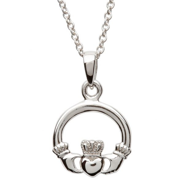 Shanore Silver Claddagh Necklace SP2116 ExclusivelyIrish.com