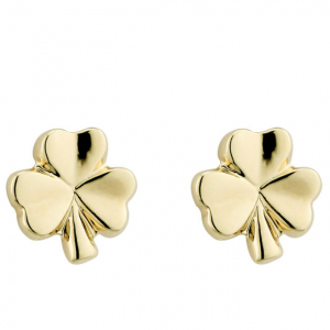 Solvar GOLD PLATED SMALL SHAMROCK STUD S3239 ExclusivelyIrish.com