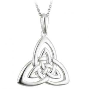 Solvar STERLING SILVER OPEN TRINITY KNOT PENDANT S44551 ExclusivelyIrish.com