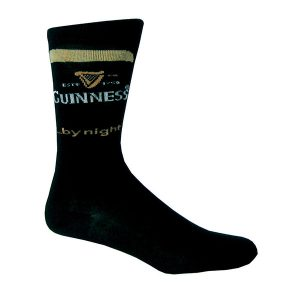 H9009-OS Black Guinness By Night Socks ExclusivelyIrish.com