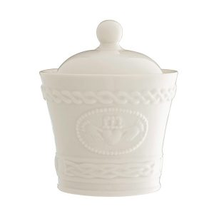 Belleek Claddagh Sugar/Condiment Bowl ExclusivelyIrish.com