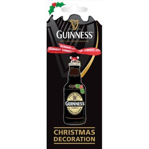 GNS5169 Guinness Metal Holiday Decoration Bottle exclusivelyirish.com