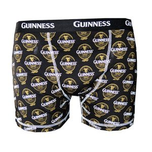 H9101 Black Guinness Label Boxer Short exclusivelyirish.com