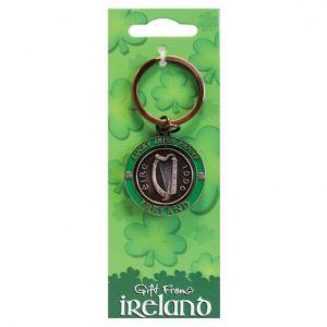 Shamrock Gift Company Gift From Ireland Penny Spinner Keyring ExclusivelyIrish.com
