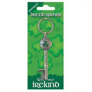 Shamrock Gift Company Gift From Ireland Ireland Shamrock Key Shape Bottle Opener ExclusivelyIrish.com