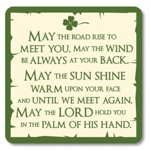 Shamrock Gift Co Irish Coaster-May the Road Rise 528 ExclusivelyIrish.com