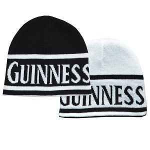 c88bd6c371a50f Guinness Reversible Black And White Beanie Hat With Guinness Text