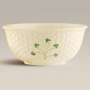 "Belleek Classic Shamrock 9.5"" Mixing Bowl B1316 ExclusivelyIrish.com"