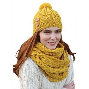 Aran Woollen Mills Women's Pom Pom Hat B595658 ExclusivelyIrish.com