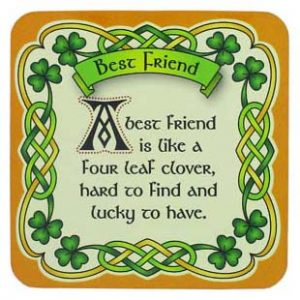 Royal Tara Clara Celtic Coasters Best Friend CL-102-3 ExclusivelyIrish.com