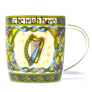 Royal Tara Irish Harp Mug - Irish Weave ExclusivelyIrish.com
