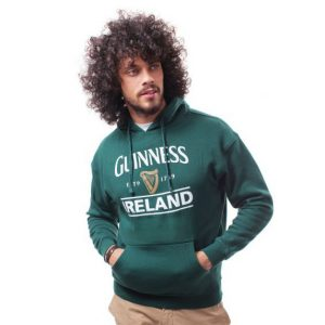 Traditional Craft Limited Guinness Pullover Hoodie With Guinness Logo & Ireland Print G5092 ExclusivelyIrish.com