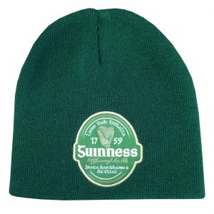 Bottle Guinness Irish Label Beanie Hat G6223-OS ExclusivelyIrish.com