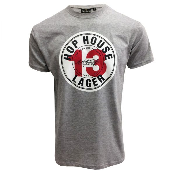 Grey Guinness Hop House Lager Short Sleeve Tee-Shirt GIM1019 ExclusivelyIrish.com
