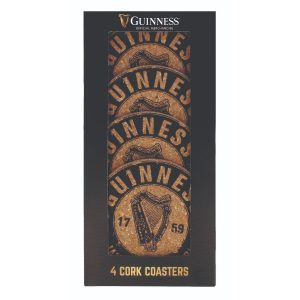 Guinness Cork Coasters - Harp - 4 Pack GNS5142 ExclusivelyIrish.com