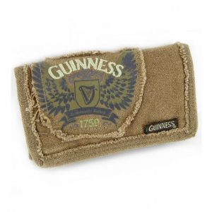 GNS2379 Guinness Canvas Wallet Featuring Wings Design Harp & 1759 Logo exclusivelyirish.com