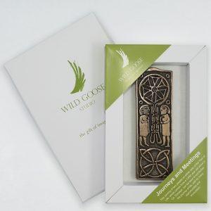 Wild Goose Studio Export Ltd. Story of Ireland Journeys & Meetings Bronzed Wall Plaque SB508 ExclusivelyIrish.com