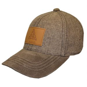Brown Ireland Tweed Suede Peak Baseball Cap T6137-OS ExclusivelyIrish.com