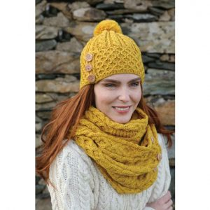 Merino Hat With Pom Pom B595658-OS ExclusivelyIrish.com