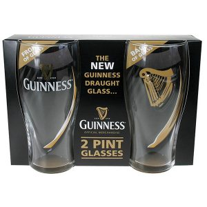 GNS2643 Guinness Embossed Gravity Glass 2 Pack exclusivelyirish.com