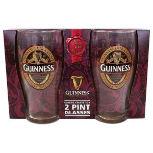 GNS5600 Guinness Ruby Red 2 Pint Glass Pack exclusivelyirish.com