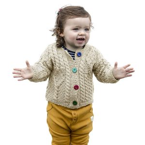 Aran Woollen Mills Baby Wool Irish Jacket Sweater ExclusivelyIrish.com