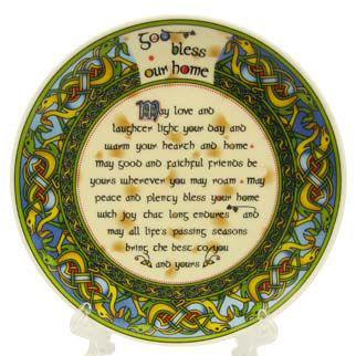 "Royal Tara God Bless our Home 4"" Plate - Irish Weave CL-73-13 ExclusivelyIrish.com"