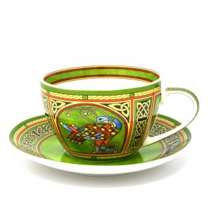 Royal Tara Celtic Peacock Cup & Saucer-Irish Weave CL-79-8 ExclusivelyIrish.com