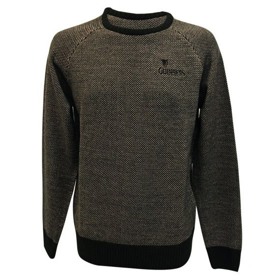 Traditional Craft Limited Official Guinness Crew Neck Sweater with Cross Stitch G5145 ExclusivelyIrish.com