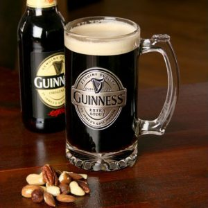 Shamrock Gift Co Guinness Label Tankard with Pewter Logo GNS2650 ExclusivelyIrish.com